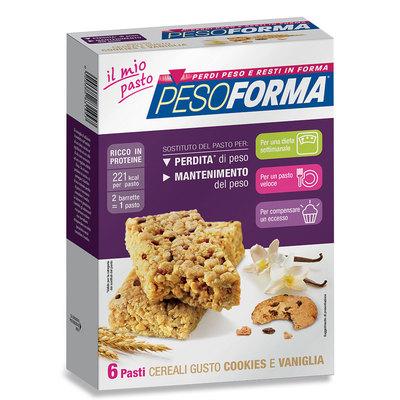 Barrette ai cereali al gusto cookies e vaniglia - Pasto sostitutivo