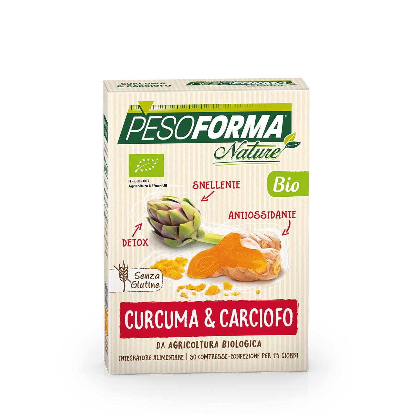 Curcuma e carciofo Bio Pesoforma - Nutrishopping