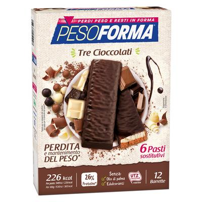 Barrette ai 3 cioccolati - Pasto sostitutivo