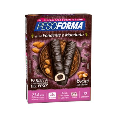 Barrette cioccolato fondente e mandorla - Pasto sostitutivo