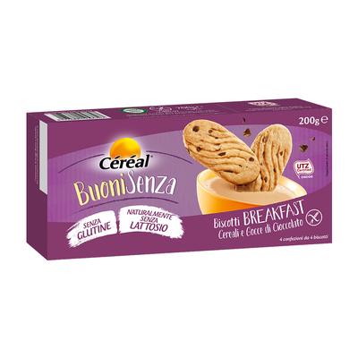 Biscotti Breakfast ai cereali con gocce di cioccolato