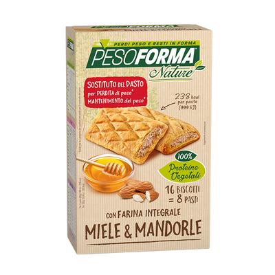 Biscotto miele e mandorle integrale - Pasto sostitutivo