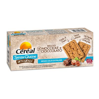 Biscotti Nocciole e Cioccolato Integrali Senza glutine